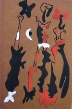 1937 Joan Miro/John Piper 'Pochoir' on Glass Paper Signature 7 Ltd Ed/450 Curwen