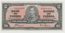 BANK OF CANADA 1937 TWO DOLLAR NOTE D/R 0018484
