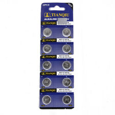 10PCS AG13 LR44 SR44 L1154 357 A76 Button Coin Cell Pack Alkaline Batteries