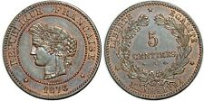 5 CENTIMES CERES 1876 A F.118 SUP+!!!