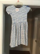Dot Dot Smile dress size 5-6 With Bow Blue NWT