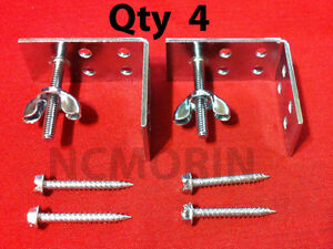 Qty. (4) Roman Shade Mounting Installation L-Brackets with Screws