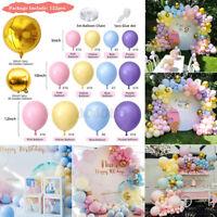 122PCS Wedding Macaron Pastel Balloon Arch Garland Kit Baby Shower Birthday AU