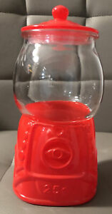 TARGET BULLSEYE PLAYGROUND GUMBALL MACHINE RED VALENTINES DAY CANDY CANISTER NEW