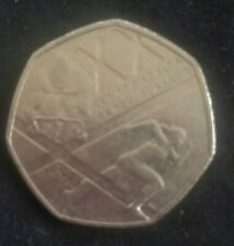 50P Coin - No Date XX Glasgow Commonwealth Games Used Condition
