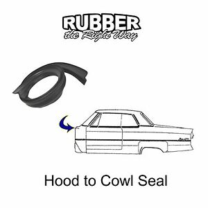 1961 1962 1963 1964 1965 1966 Ford Thunderbird Hood to Cowl Seal