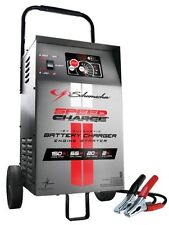 Automatic Wheeled Battery Charger with Engine Start Schumacher Se 1555a Clamps