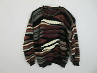 Vtg Protege Collection Multi-Color Coogi Style Sweater Biggie Cosby 90's Size XL
