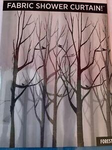 Inter Design Fabric Shower Curtain - Forest - NIP