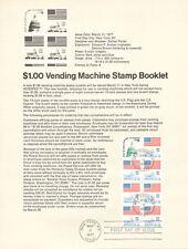 #7702 $1 Vending Booklet Stamp #1623c Souvenir Page