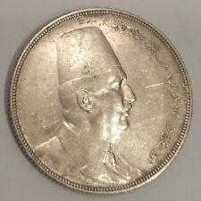 EGYPT / AH1341-1923H 20 Silver Piastres Fuad I !!