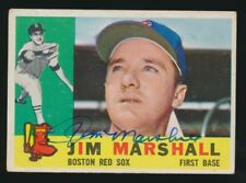 1960 Topps #267 JIM MARSHALL (Boston Red Sox) *AUTOGRAPHED*