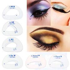 6pzas Ceja Ojos De Sombra Plantilla Modelos Faja Maquillaje Belleza Herramienta