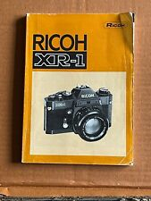 Ricoh XR-1 Camera Instructions