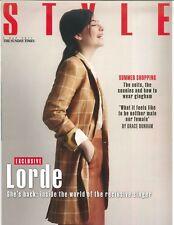 Style (Sunday Times); Lorde Reclus Chanteuse, Megan Hine & Bear Grylls; May 2017
