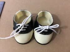 Tender Heart Treasures Vintage Saddle Shoes Oxfords Doll Bear 25928 Black White