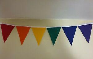 Handmade fabric bunting rainbow colours 10ft - 20ft playroom, bedroom, nursery