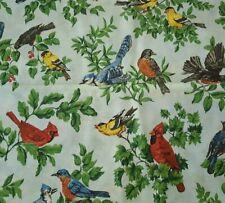 Bird Print Bty Tpsa Vip Cranston Cardinal Robin Blue Bird Canary Jay Tonal Blue