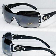 New DG Womens Rimless Sunglasses Shades Fashion Designer Black Shield Retro Wrap