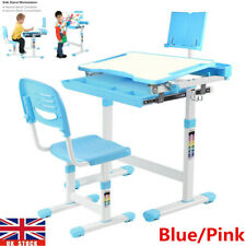 Multi-Functional Adjustable Kids Study Table Set Children Drawing Desk Chair UK