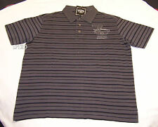 Jack Daniels Mens Grey Stripe Short Sleeve Polo Shirt Size M New