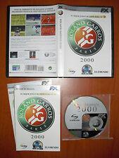 Roland Garros 2000 [PC CD-ROM] CaraPace, Cryo, FX Interactive, Versión Española