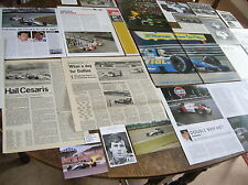 ANDREA DE CESARIS  Articles/cuttings/photo: F3 March  F1 Alfa Rial Jordan Ligier