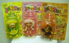 #2635 NOC Vintage Lanard Jelly Bean Dolls Set of 3 Lemon, Cherry, Cinnamon Dolls