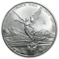 2011 1 oz Silver Mexican Libertad Coin