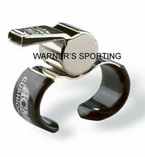 ACME THUNDERER NICKEL-PLATED BRASS OFFICIAL REFEREE FINGER GRIP WHISTLE 477/60.5