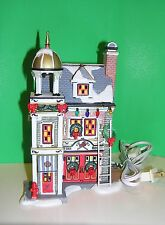"""DEPT 56  - """"A Christmas Story""""  - THE FIRE HOUSE sculpture - NEW in BOX"""