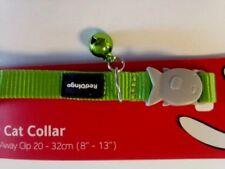 collier chat reddingo vert pomme 32 cm ANTI ETRANGLEMENT