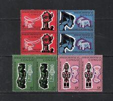 CONGO / REPUBL.DEMOCRAT. (1965) - COB 613/616 (4V x 2 MNH) FESTIVAL ARTS NEGRES