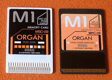 4 COPPIE KORG DOPPIE CARD MPC-09 + MPC-11 + MPC04 + MPC-01    X KORG M1/M1R/T3