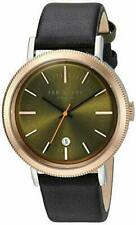 NWT Ted Baker 10031508 Men's Watch Black Leather With Green Dial