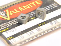 NEW SURPLUS 10PCS. VALENITE  SD  333NN  GRADE: VC55  CARBIDE INSERTS
