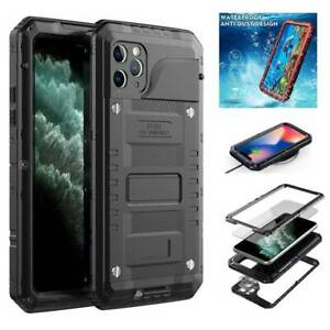 For iPhone 11 Pro Max IP68 Waterproof Shockproof Hybrid Armor Case +Screen Cover