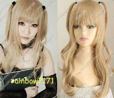 Death Note Amane Misa Misa Cosplay Wigs Blonde costume hair wig  @63