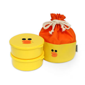 Line Friends SALLY Daily Bento Lunch Box Food Container With Bag Cute Design