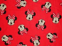 DISNEY MINNIE MOUSE FABRIC HEAD TOSS SPRING CREATIVE QUILTING COTTON BY THE YARD