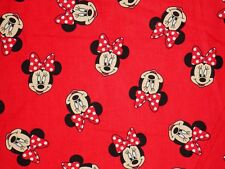 8 YARDS  DISNEY MINNIE MOUSE FABRIC  HEAD TOSS SPRING CREATIVE  QUILTING  COTTON