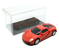 "Porsche 918 Spyder Red Diecast Car Scale 1/64 (2.5"") RMZ City Free Display Box"