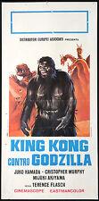 CINEMA-locandina KING KONG CONTRO GODZILLA flasch,hamada,murphy,FLASCH