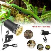 Reptile Heat UVB/UVA Lamp Holder Aquarium Lighting Clip for Fish Tank T5C2
