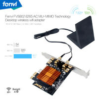 Desktop PC Wireless WiFi Card 802.11ac Dual Band 1200Mbps BT4.0 Network Adapter