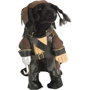 Caribbean Pirate Dog Costume Halloween Pet Fancy Dress Outfit