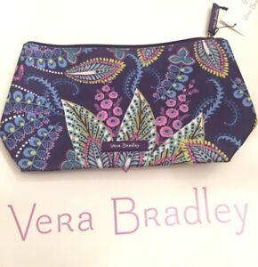 NWT Vera Bradley Lighten Up Large Cosmetic Case Batik Leaves