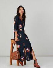 Joules Womens Chloe Fixed Wrap Dress - NAVY PEONY Size 8