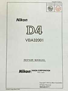Nikon D4 VBA32001 Service Manual (English)