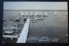 "Class ""C"" Start at WHITE LAKE YACHT CLUB Whitehall, Michigan RPPC postcard 1953"